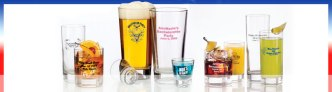imprinted beer glasses
