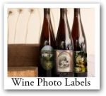 personalized wine photo labels and photo labels with text